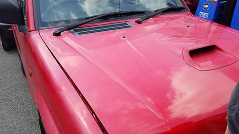 車体の色あせ